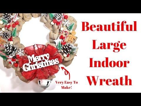 WOW! Learn How To Make An Easy Christmas Wreath   DIY Wreath Tutorial
