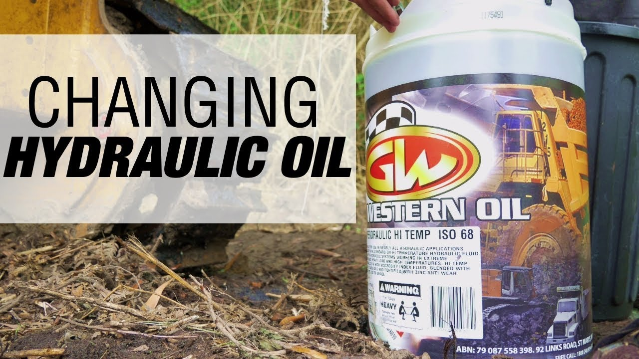 How to Change Hydraulic Oil - Heavy Machinery [EPISODE 3]