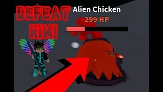 How to beat the Alien Chicken! Roblox Egg Farm Simulator