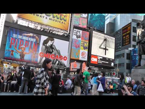 New York: Der faszinierende Times Square. Manhattan: News from the fascinating Times Square