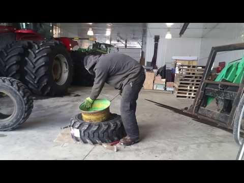 Changing A 12-16.5 Front Backhoe Tire