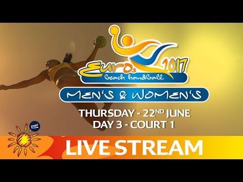 Re-Live: Court 1 - Beach Handball EUROS | Day 3 | Zagreb, Croatia