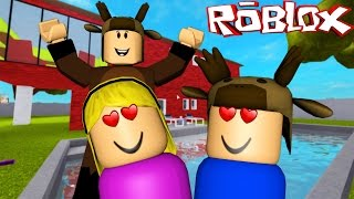 Roblox Adventures / BABY KISSES A GIRL IN ROBLOX