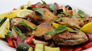Chicken with Piri Piri Lime Marinade & Mediterranean Veg Recipe - Woolworths