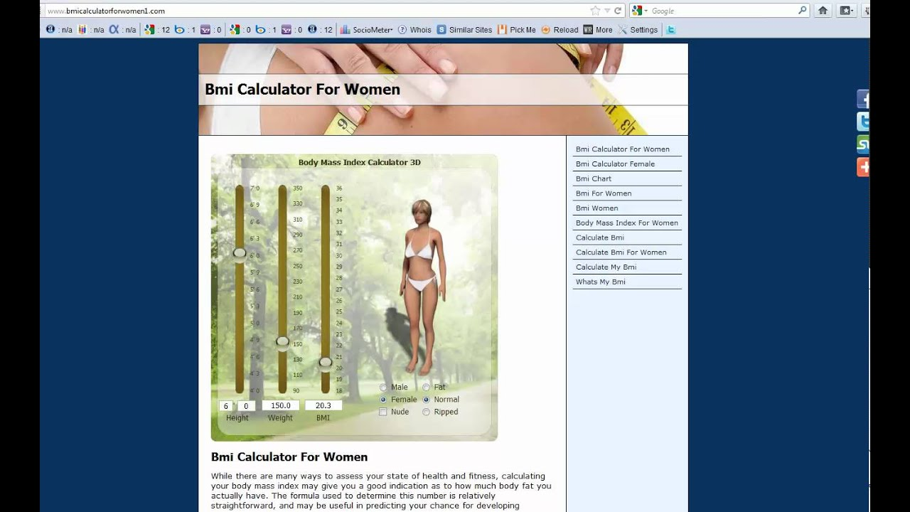 Bmi calculator for women youtube bmi calculator for women nvjuhfo Image collections