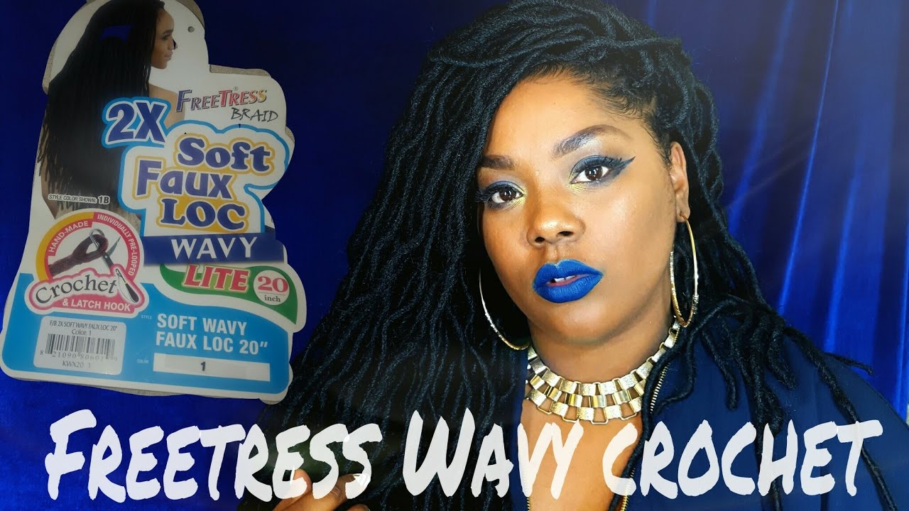 Realistic Faux Locs Crochet Freetress Wavy 20 Inch Youtube