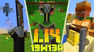 Minecraft 1.14: [Snapshot 19w13a] Co Nowego? Wieśniacy Dzwonią w Dzwon! Zmiany i Nagrody Za Najazdy!