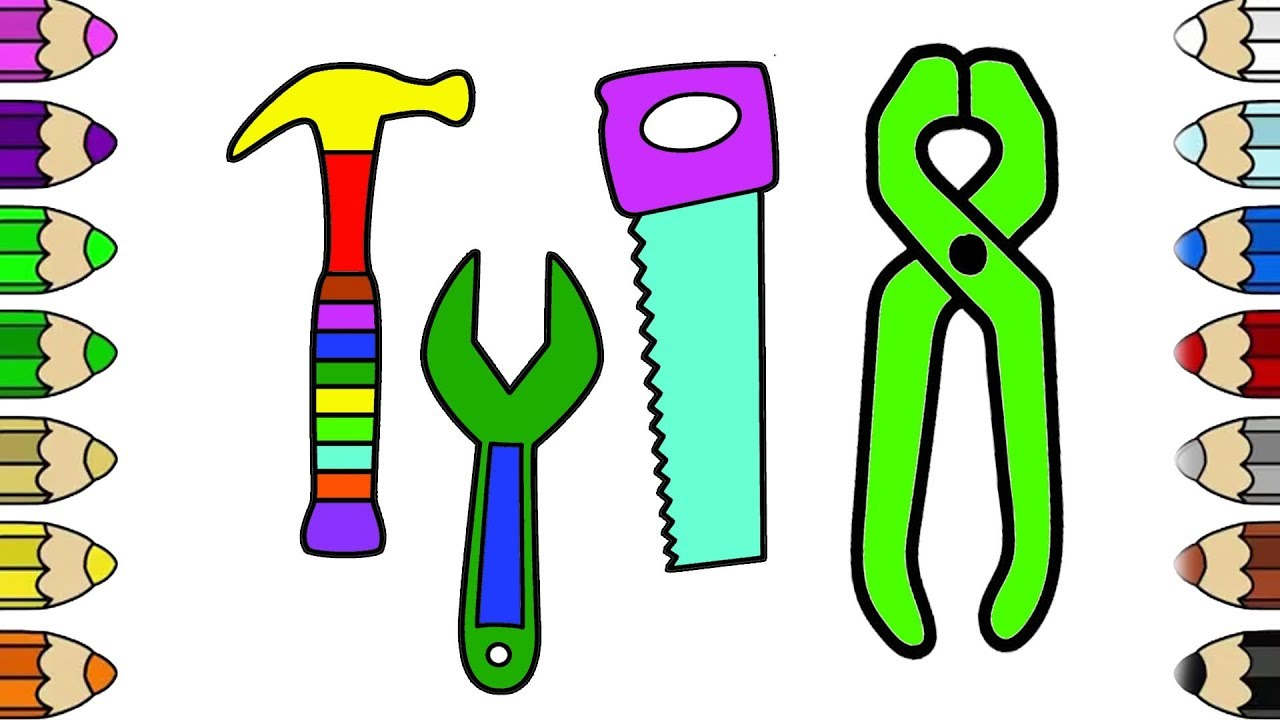 Free Tool Box Coloring Page, Download Free Clip Art, Free Clip Art ... | 720x1280