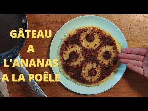 gâteau-au-yaourt-a-l'ananas-à-la-poële-!
