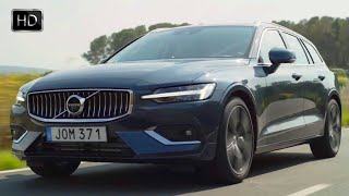 2019 Volvo V60 D4 Inscription (Denim Blue) Design Overview & Driving Footage HD