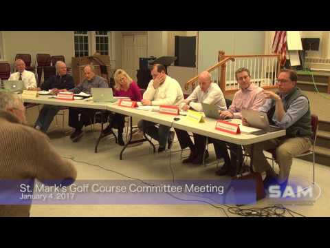 St. Mark's Golf Course Committee Meeting January 4, 2017
