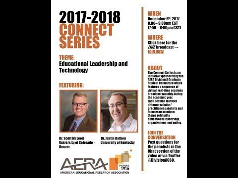 Division A Connect Series: Educational Leadership and Techno
