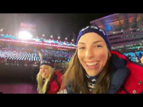 Hilary Knight BTS at the 2018 Winter...