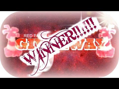 ▶︎II Red Party Hat Giveaway WINNER!!!! II◀︎
