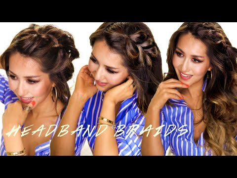 ★ 3 Easy Dutch Headband Braid Hairstyles | Hair Tutorial