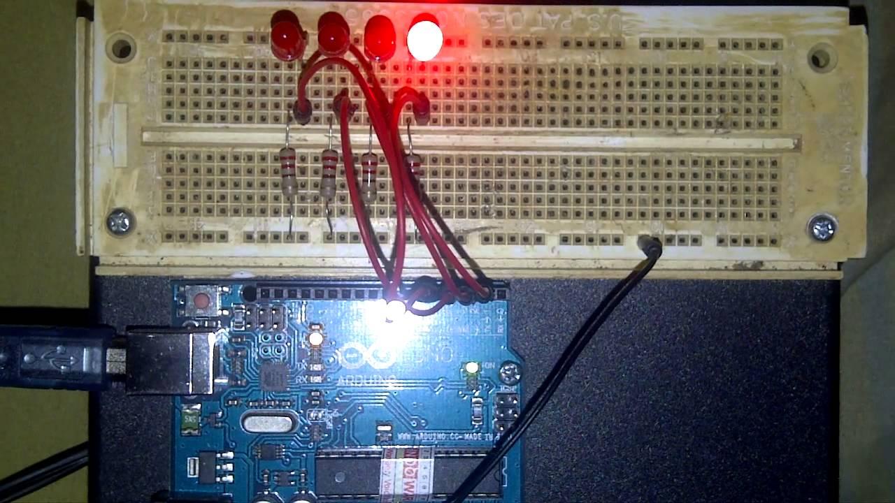 Membuat lampu berjalan dengan coding array arduino youtube