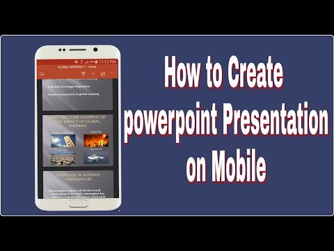 How To Make PowerPoint Presentation On Android Mobile II Learn Technical