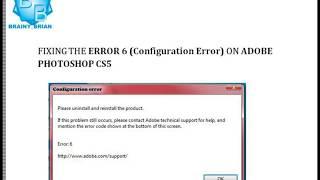 HOW TO FIX Photoshop CS5 error 6