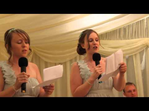 Disney Bridesmaids' Wedding Speech Song