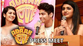 Oru Adaar Love Press Meet   Priya Varrier   Roshan   Omar Lulu    Shaan Rahman   Thamizh Padam