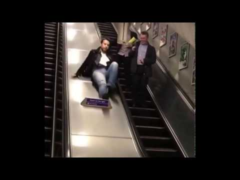 Never take the London Underground if you're drunk! Ouch! That hurts!