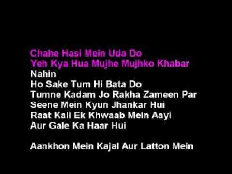 Raat Kali Ek Khwab Mein Hindi Karaoke With Lyrics