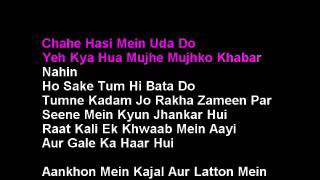 Raat Kali Ek Khwab Mein Hindi Karaoke With Lyrics