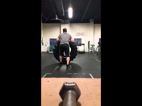 Brett Maher 215 lb tire flip