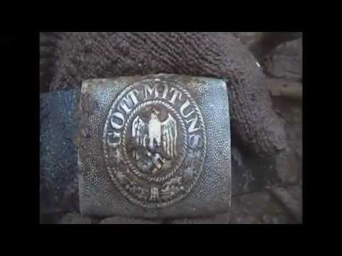 Раскопки Октябрь 2012 блиндажи \ Digging of German dugouts