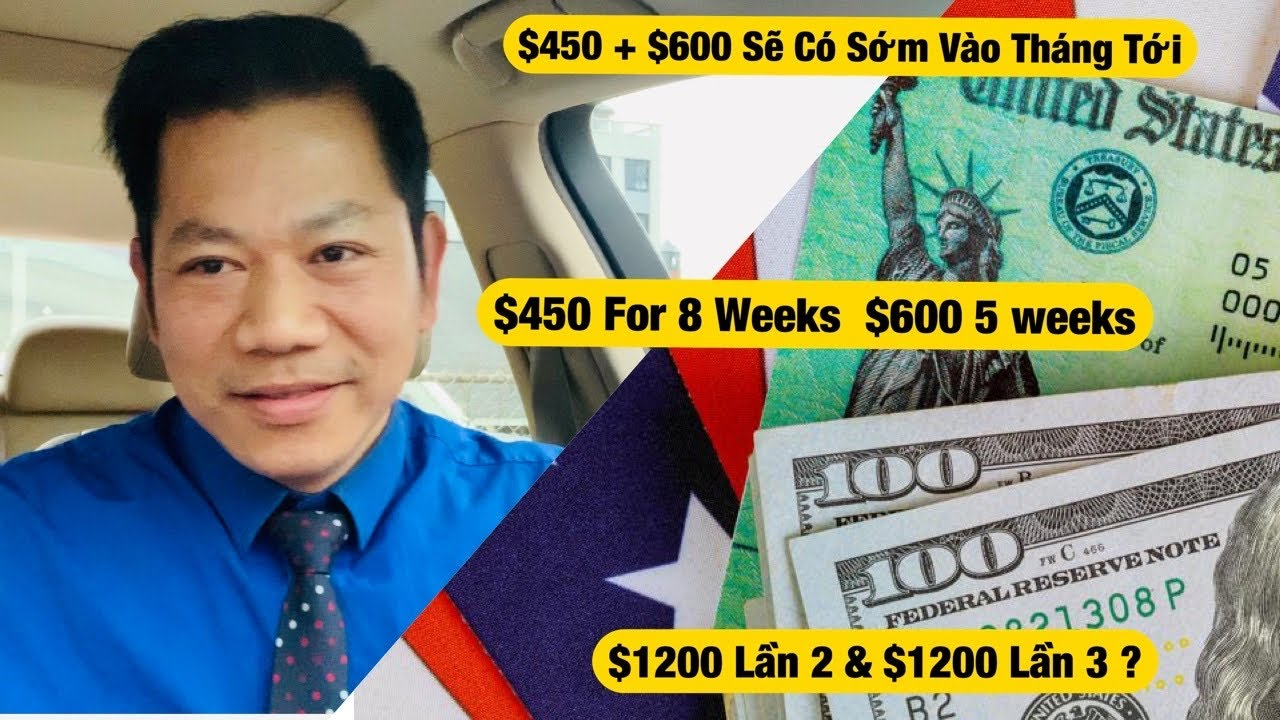Tin Vui Dự Luật Hoà Giải $1200 Lần 2+ $1200 Lần 3 TN Gia Hạng $450 8 Tuần +$600 5 Tuần
