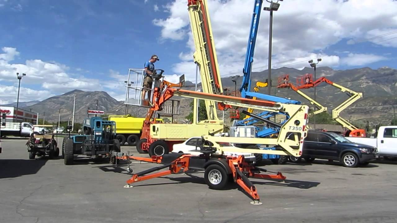 Tow Behind Electric Manlift Boom Lift 2008 JLG T350 35' Reach LOW HOURS!  FOR SALE $17,800