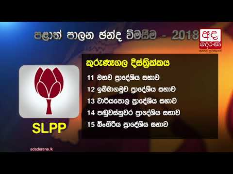 SLPP heads for landslide victory in local body elections