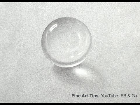 How to Draw a Crystal Ball With Pencil - Crystal Sphere With Graphite