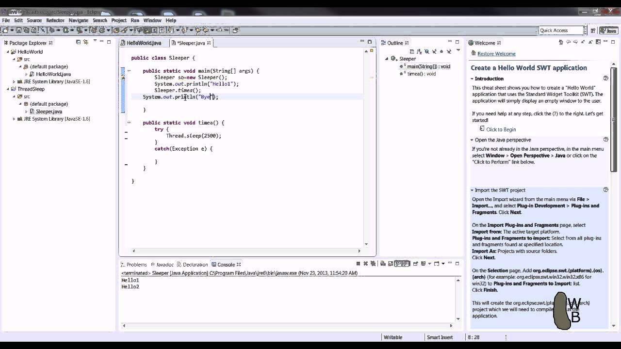 Java thread sleepwait tutorial youtube java thread sleepwait tutorial baditri Choice Image
