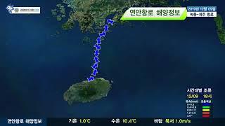 [녹동 제주도 항로정보] 2019년 12월 9일/ 해양…