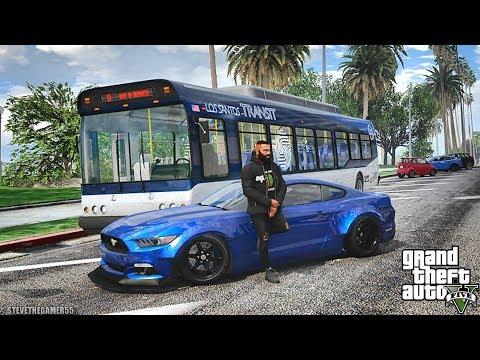 GTA 5 REAL LIFE MOD #556 - BUS DRIVER SIM!!! (GTA 5 REAL LIFE MODS)