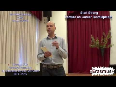[My Education, My Job, My Future] 3rd Project Meeting in Latvia -Lecture on Career Development