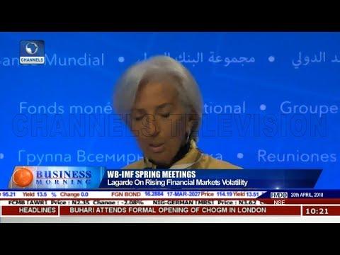 Lagarde On Rising Financial Markets Volatility | Business Morning |