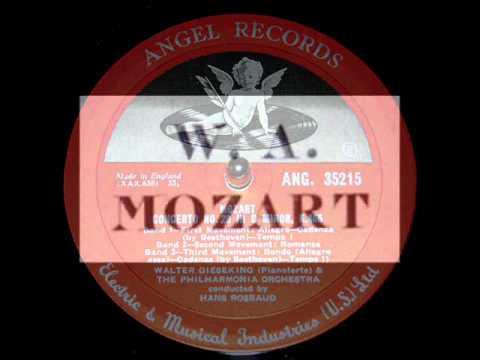 Mozart / Walter Gieseking, 1953: Piano Concerto in D minor, K. 466 - Hans Rosabud, Complete