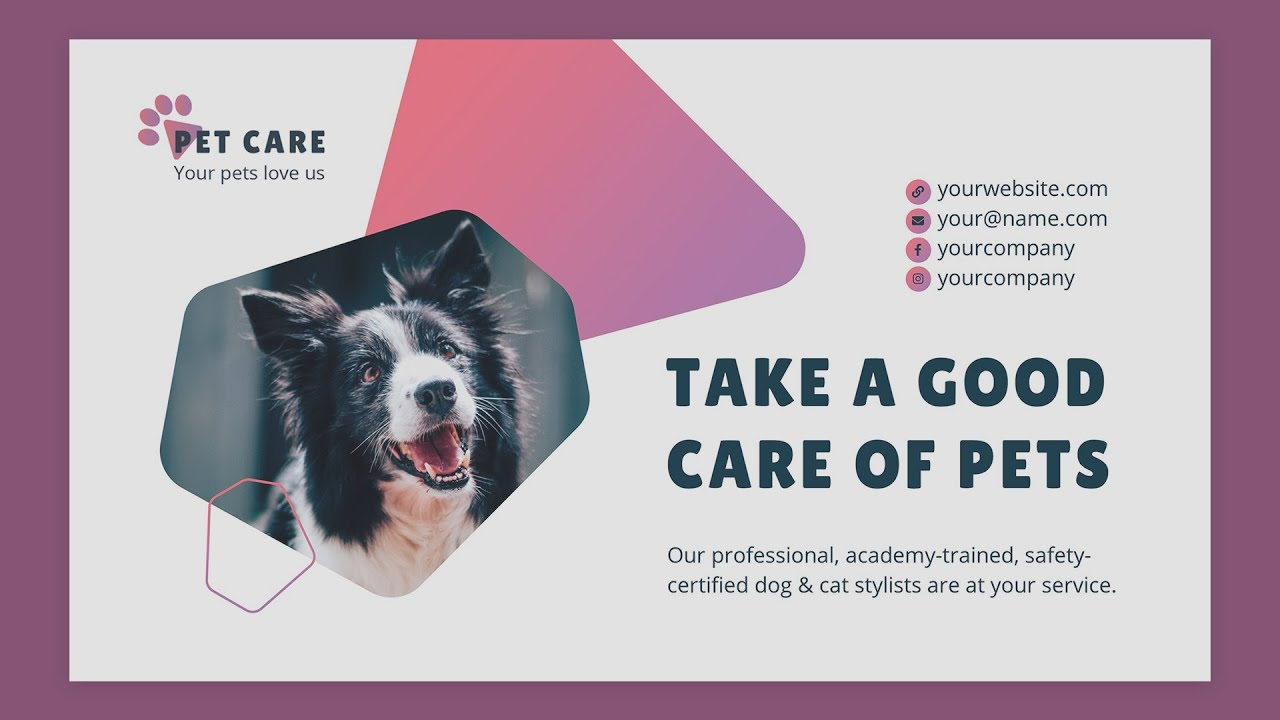 Pet Grooming Care Powerpoint Presentation Template Demo