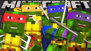 Minecraft School - HELPING THE TEENAGE MUTANT NINJA TURTLES! thumbnail