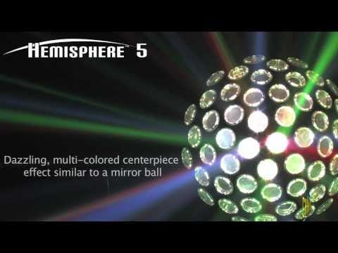 CHAUVET Lighting Hemisphere 5: Multi-Colored Centerpiece Effect Light Similar to a Mirror Ball