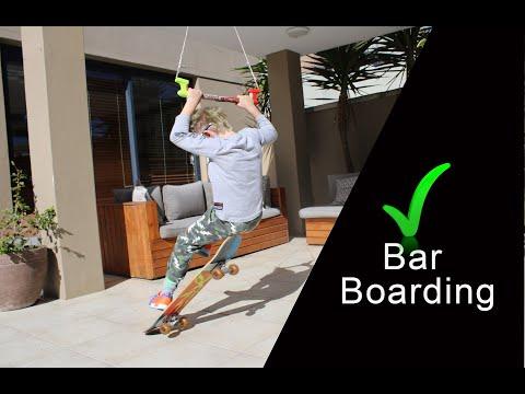 Seven-year-old Leyton Harris introduces bar boarding