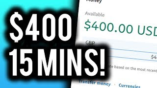 Earn $400 in 15 MINS TODAY! - Make Money Online 2019 With This Click & Earn Method!