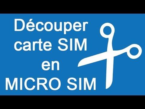format carte sim iphone 6 Transformer une carte SIM en carte Micro SIM   Méthode   YouTube