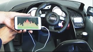 Audi R8 GT SPYDER Ride On Car  - How To Connect Mp3