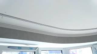 видео Алюминиевый карниз для эркера.