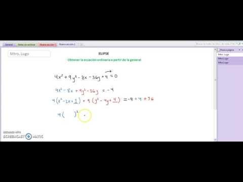 Geo Ana_Elipse_Ecuación Ordinaria a partir de General