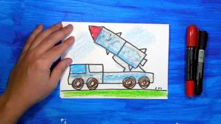 How to draw a ballistic missile