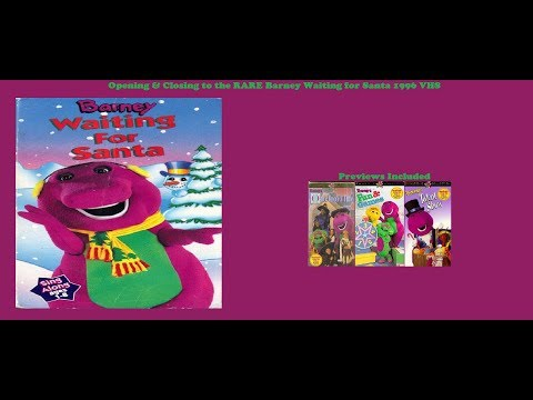 Barney Waiting for Santa Rare 1996 VHS Opening & Closing #1